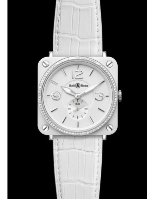 BR S White Ceramic & Diamonds