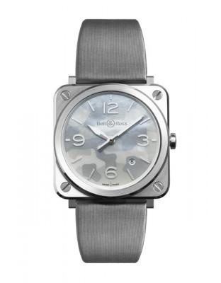 BRS Grey Camouflage - Acier - Cadran nacre - Bracelet satin