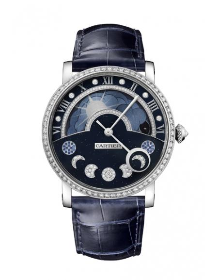 Rotonde de Cartier Jour Nuit Phases de lune rétrogrades