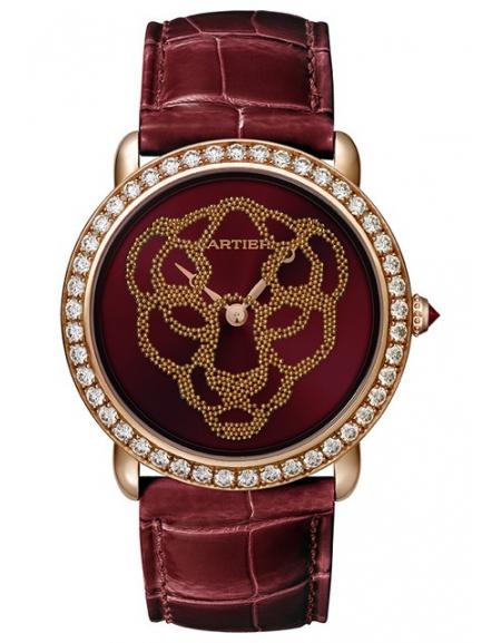 Révélation d'une Panthère 37mm, or rose, diamants, rubis, billes d'or rose