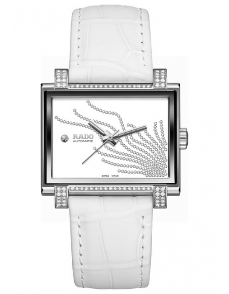 Rado Tradition 1965 Cadran boîtier diamants + bracelet blanc