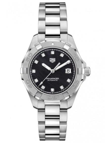 Aquaracer Lady Automatique Cadran Noir et indexes diamants