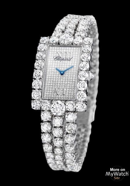 diamant heure chopard diamants blanc lheure watchsite